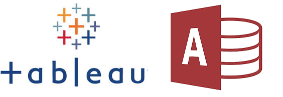 Tableau logo and Microsoft Access logo