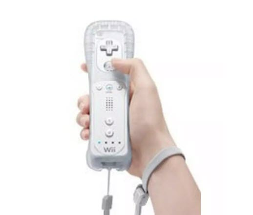 Nintendo Will hand held controller with person holding it